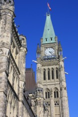 Photograph of Parliament Hill in Ottawa, Ontario, Canada